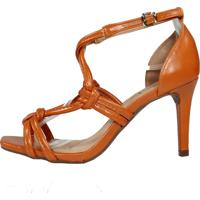 Sandália Salto Médio Week Shoes New Pele Siena