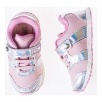 Tênis Klin Mini Walk Rosa Holográfico