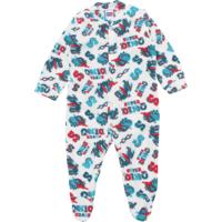 Pijama Tip Top Longo Menino Estampa Branco