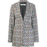 b556a92b90 Farfetch  Victoria Beckham Blazer Com Estampa Floral - Branco