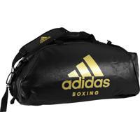 Bolsa Mochila Adidas Boxing 2In1 Pu 50L Preto/Dourado