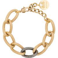 By Alona Pulseira Tiffany Banhado A Ouro 18K E Prata - Dourado