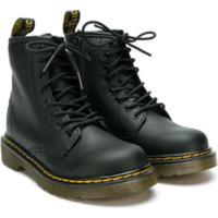 Dr. Martens Kids Ankle Boot 'Fiori' - Preto