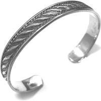 Bracelete Prata Mil Bali De Prata Prata