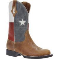 Bota Couro Texas West Country Masculina - Masculino-Marrom
