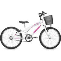 Bicicleta Mormaii Aro 20 Feminina Next Branca Com Cesta
