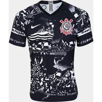 Camisa Corinthians Iii Invasões 19/20 Jogador S/Nº Nike Masculina - Masculino-Preto+Branco