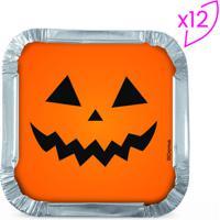 Jogo De Marmitas Halloween- Prateado & Laranja- 12 Ucromus