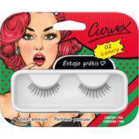 Cílios Postiços Merheje - Curvex Luxury 02 Pack Unitário - Unissex-Incolor