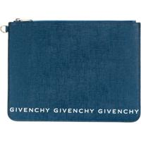 Givenchy Multi Logo Leather Pouch - Azul