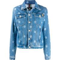 Ps Paul Smith Jaqueta Jeans Com Logo - Azul