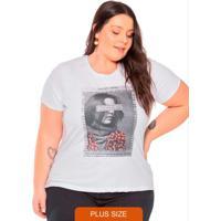T-Shirt Feminina Com Estampa Frontal Branco