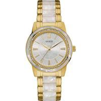 Relógio Guess Feminino Aço Dourado E Madrepérola Branca - W0706L3