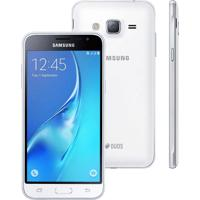 "Smartphone Samsung Galaxy J3 Duos Sm-J320M - Branco - Dual-Chip - 8Mp - Tela 5"" - Android 5.1"