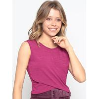 Blusa Texturizada Com Transpasse - Pink - Chocoleitechocoleite