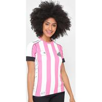 365e7cd994 Netshoes  Camisa Santos Ii Outubro Rosa 17 18 S Nº Kappa Feminina - Feminino