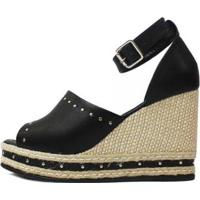 Sandália Laura Napa Damannu Shoes Feminina - Feminino-Preto
