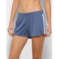 Short Adidas Pacer 3 Stripes Knit Feminino - Feminino-Azul