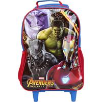Mochila Infantil Xeryus Avengers Rodinhas - Masculino