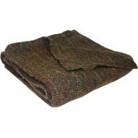 Manta Texturizada- Marrom Escuro & Amarela- 125X150Cniazitex