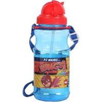 Cantil Plástico Com Alça Dmw Pjmasks Infantil - Masculino-Azul