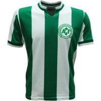 Camisa Liga Retrô Chapecoense 1979 - Masculino-Verde+Branco