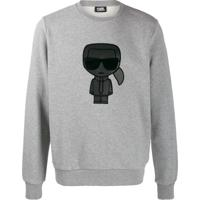 Karl Lagerfeld Moletom Com Estampa Ikonik - Cinza