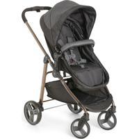 Carrinho De Bebê Olympus Black, Assento Reversível E Moisés - Galzerano
