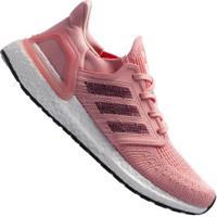 Tênis Adidas Ultraboost 20 - Feminino - Rosa Cla/Vinho