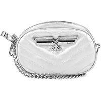 Bolsa Ellus Pochete Mini Bag Matelassê Metal Feminina - Feminino-Prata