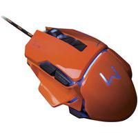 Mouse Gamer Warrior 3200 Dpi Laranja Usb Mo263 Multilaser