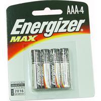 Pilhas Palito Energizer Max Aaa4 Alcalínas