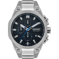Relógio Orient Masculino Mbssc211 P1Sx Pulseira E Caixa Aço Prateado Mostrador Azul