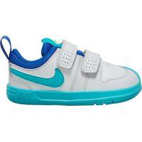 Tênis Infantil Nike Pico 5 Velcro - Unissex-Branco+Azul Turquesa
