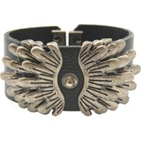 Bracelete Crisfael Acessórios Metal Onix 01 Preto