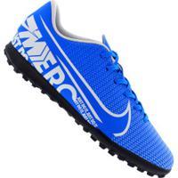 Chuteira Society Nike Mercurial Vapor 13 Club Tf - Adulto - Azul Cla/Branco