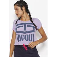 Blusa Cropped Tapout® - Lilás & Azul Escurotapout