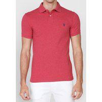 Camisa Polo Polo Ralph Lauren Slim Logo Vermelha