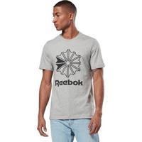 Camiseta Reebok Classics Big Logo Masculina - Masculino-Cinza