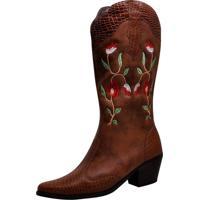Bota Chiquiteira Country Texana Marrom