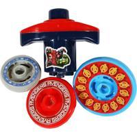 Pião Com 3 Discos Dy-050 Vingadores Etilux Vermelho