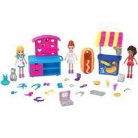 Boneca Polly Pocket Quiosque De Moda E Lanchinhos Com Acessórios Mattel - Feminino-Rosa