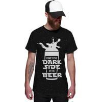 Camiseta Di Nuevo Star Wars Dark Sider Of Beer Lado Escuro Da Cerveja Masculina - Masculino-Preto