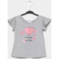 Blusa Infantil Quimby Love Chic Feminina - Feminino