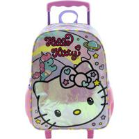 Mala Com Rodinhas - Nº 16 - 30X40 Cm - Hello Kitty - Rainbow - Xeryus