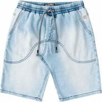 Bermuda Infantil Johnny Fox Moletinho Imita Jeans Claro Masculina - Masculino-Azul Claro