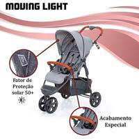 Carrinho De Bebê Abc Design Moving Light Woven Grey (Detalhe Em Couro) - Tricae