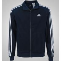 Jaqueta Adidas Essentials 3S Top - Masculina - Azul Esc/Branco