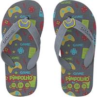 Chinelo Pimpolho Video Game Cinza