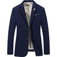 Blazer Jeans Masculino - Azul Marinho Xg